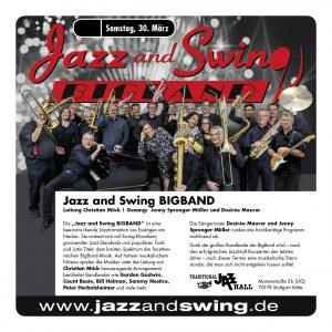 Jazz and Swing BIGBAND, Live in der JazzHall Stuttgart