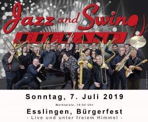 Jazz and Swing Bigband beim Bürgerfest in Esslingen auf dem Marktplatz